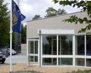 Het politiebureau aan de Terpstraat in Wieringerwerf'