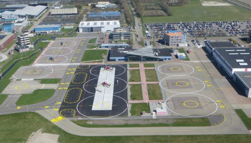 Platform Den Helder Airport - Foto: CRC Helicopters